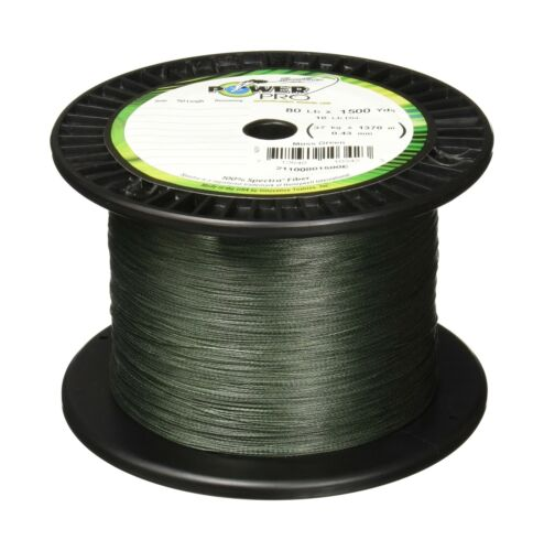 Power Pro Spectra Fiber Braided Fishing Line Moss Green 300YD//50LB