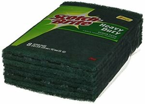 3M 220-8-CC 6-Inch by 9-Inch Scotch-brite Heavy Duty Scour Pad, 8 Count