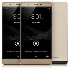 "6"" Unlocked Android 5.0 Smart Phone Dual SIM 3G/GSM GPS Best Cell Phone Gold"