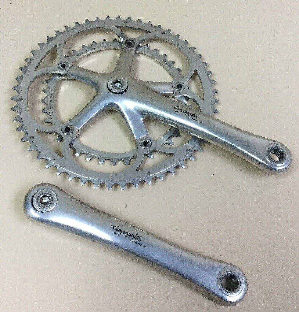 CAMPAGNOLO CHORUS CRANKSET DOUBLE 172.5 MM 53-39T 10 OR 9 SPEED