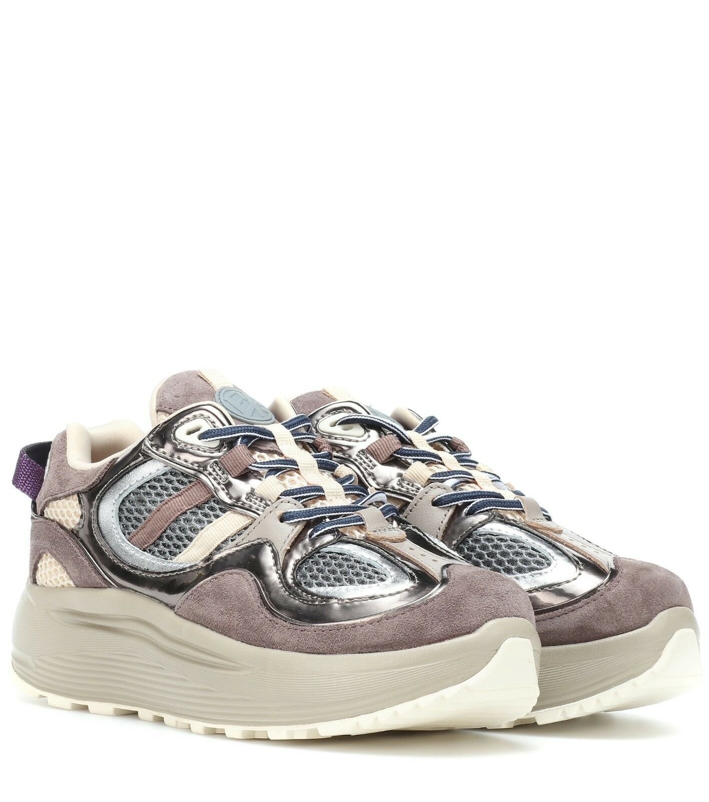 BRAND NEW EYTYS JET TURBO  SUEDE AND LEATHER SNEAKERS IN IRON SIZE 39 UK6