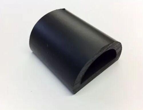 PER METRE BOAT FENDER D SECTION 32MM BASE BLACK PVC RUBBER BOAT CHANDLERY