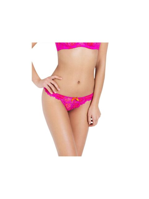 3b58461ae1 L  Agent Provocateur Cara Pink   Orange Lace Knickers Size M Brand New RRP £