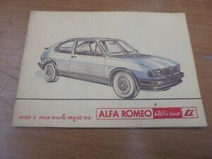 ALFA-ROMEO-ALFASUD-TI-FOLLETO-USO-Y-MANTENIMIENTO-ORIGINAL
