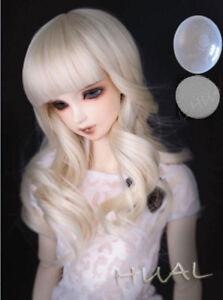 "6-7/"" 1//6 BJD Blonde Long Curly Wave Wig LUTS Doll SD DZ DOD MSD Fairyland Hair L"