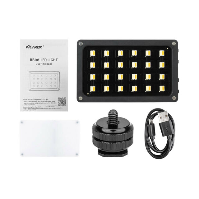 Viltrox RB08 Photography LED Camera Video Light Dimmable Panel for Camera B8Q2