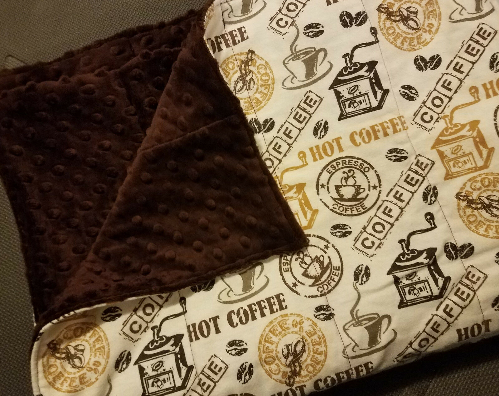 Weighted Blanket - Coffee - 72x42 - You Choose Weight
