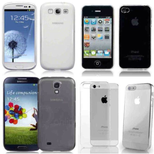 iPhone and Samsung crystal clear ultra thin hard case job lot wholesale x 35