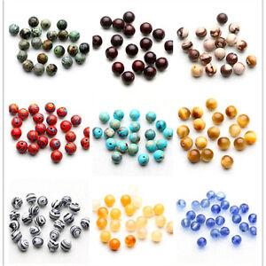 Natural-Jade-Gemstone-Round-Loose-Spacer-Beads-4-6-8-10mm-Jewelry-Making-DIY