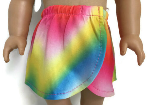 Rainbow Wrap Around Skirt for 18 inch American Girl Doll Clothes