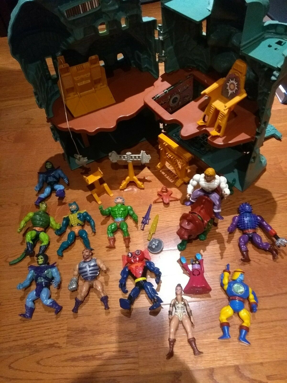 Vintage He-Man & The Masters of Universe Bundle Castle Keep Battle Cat Job Lot