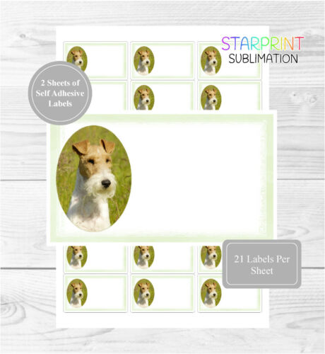 Wire Fox Terrier 42 Multi-Purpose Stickers Blank For Address Labels//Gift Tags