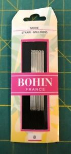Bohin-Milliners-Needles-Sz-8-quilting-applique-sewing