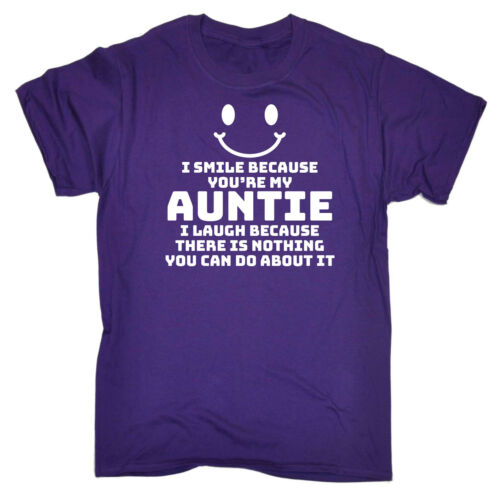 I Smile Because Youre My Auntie Funny Kids Childrens T-Shirt tee TShirt