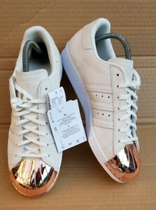 prix le plus bas 6c1d9 b009a Details about BNIB ADIDAS SUPERSTAR 80'S TRAINERS BEIGE SUEDE ROSE GOLD  METAL TOE IN SIZE 7 UK