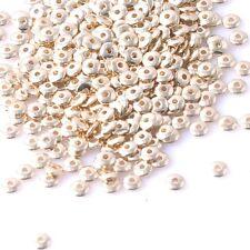 30 Mixte Perles intercalaires Doré acrylique, 6mm Perle rondelle 6mm x 2mm