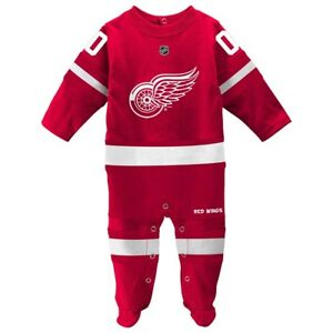 Detroit Red Wings NHL Newborn Red Long Sleeve Jersey Style Coverall