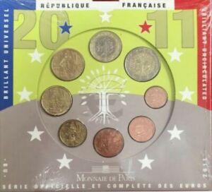 FRX2011.1 - COFFRET BU - EUROS FRANCE - 2011 : sous blister