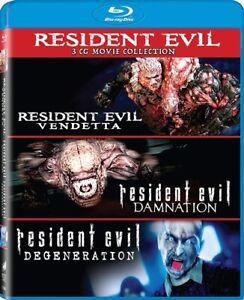 Resident Evil 3 Cg Movies Collection New Blu Ray Damnation Degeneration Vendetta 43396519602 Ebay