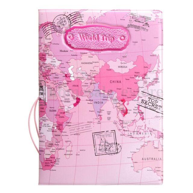 World Cartoon Holder Travel World Map Passport Card