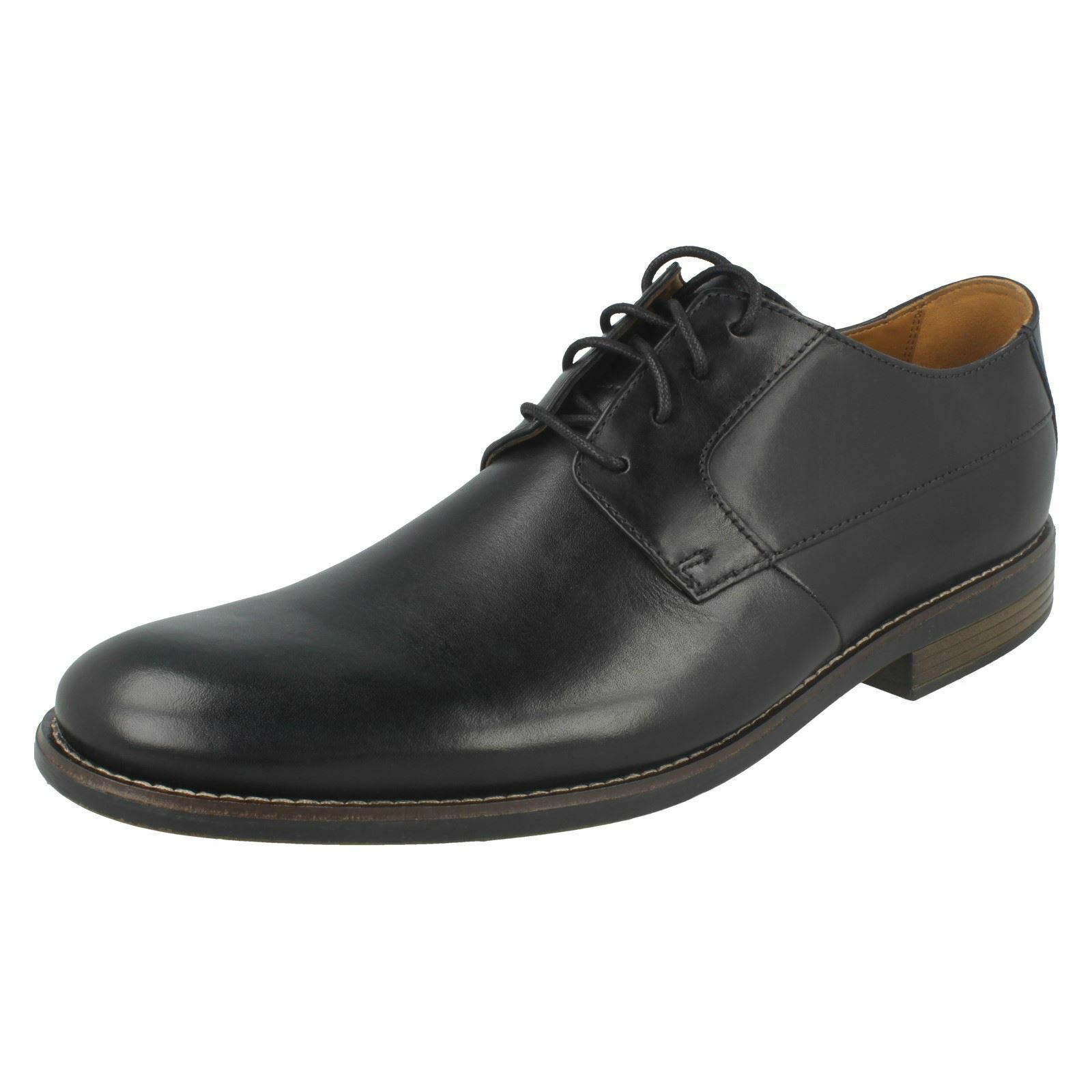 CLARKS Becken Plain Hombre Leather Up Lace Up Leather Gibson Zapatos f2a6db