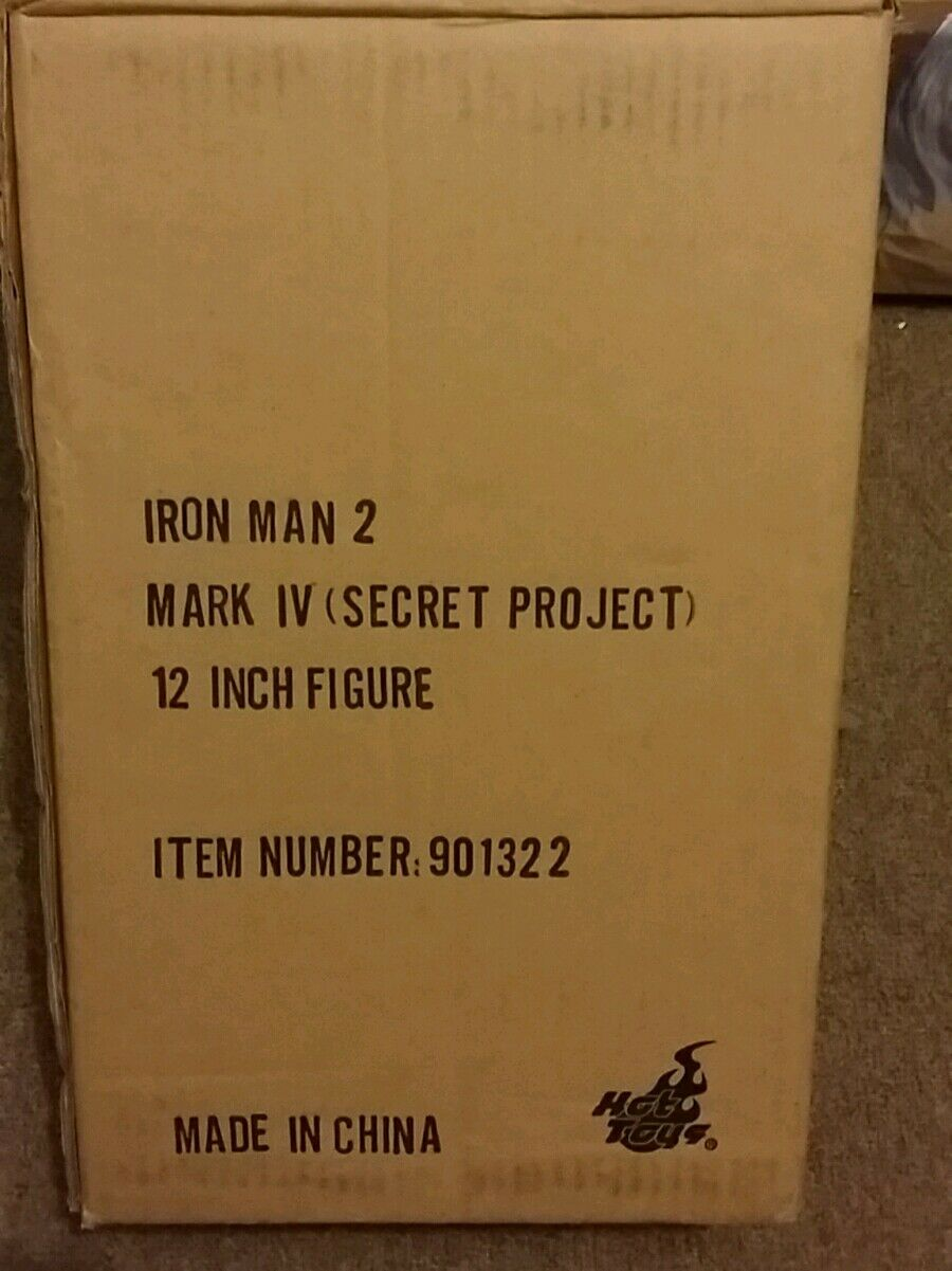 Raro 1 6 escala Hot Juguetes Iron Man 2 Mark IV Figura de proyecto secreto (en Stock)
