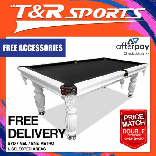 7ft black felt slate solid pool table