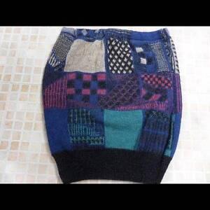 Women-Sweater-Jumper-Knitted-Vtg-Bodycon-Skirt-2-UK-10-Multi-Grade-A-LB1122