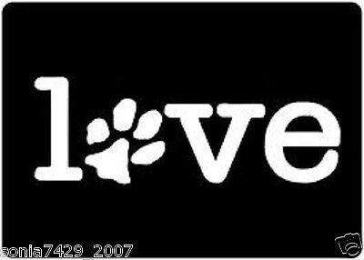 LOVE PAW Sticker Family Car Window Vinyl Decal Cute Animal Pet Dog Cat Wall Art