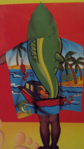 Northpoint Kids Flamingo Reptile Cotton Hooded Beach Towel Size 24 x 48