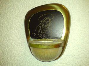 Weihwasserbecken-Metall-m-Glaseinsatz-Maria-m-Jesuskind-Holy-Water-Font-LOOK