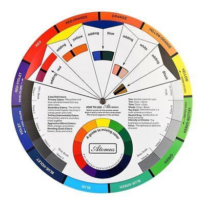 Guía de pintura color Grande Rueda de mezcla arte pintura artista cuadro rueda