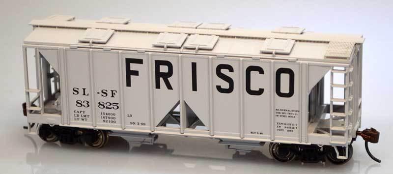 Bowser FRISCO 70 Ton 2-Bay Covered Hopper Cars KITS  (3 car set   3 car  s) NIB
