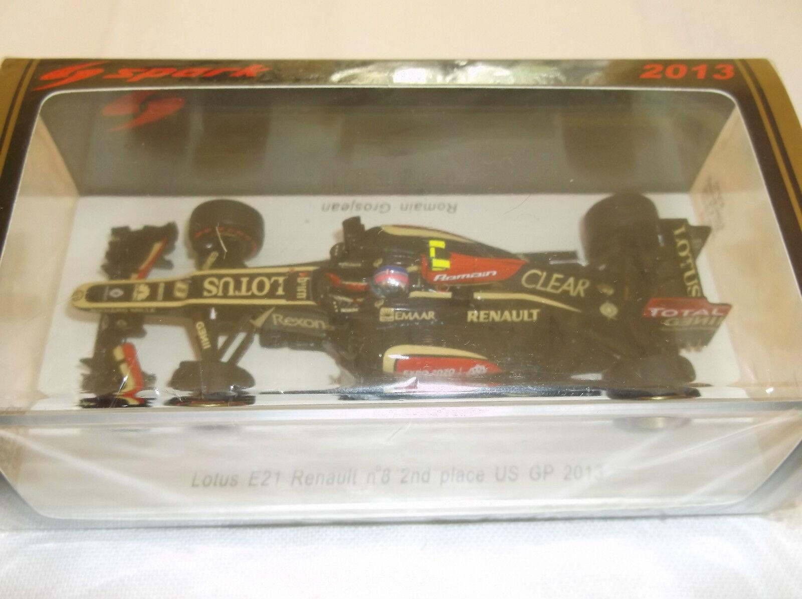 Spark 1 43 Romain Grosjean  Lotus E21 Renault  US GP F1 2013