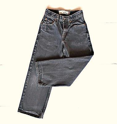 Boys 9 Slim Black Levis 569 Denim Jeans 22.5x23.5 Loose Straight Pants