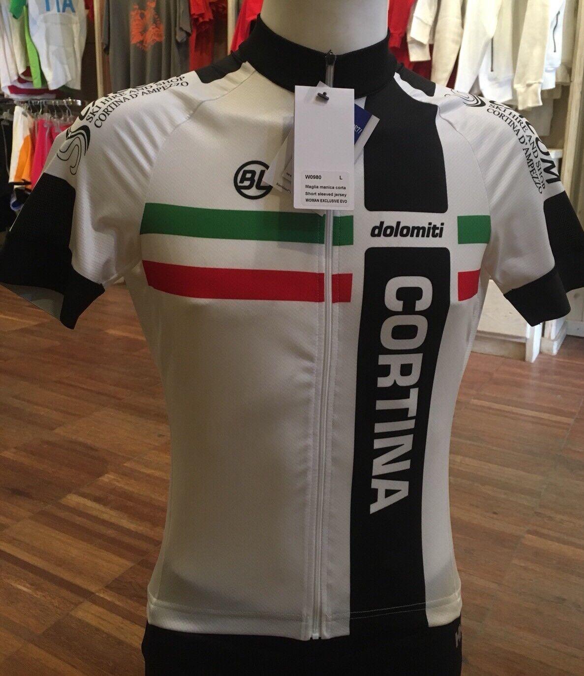 """Maglia Ciclismo Uomo Bycicle Line """"Cortina Dolomiti"""" Tg.XXL"""