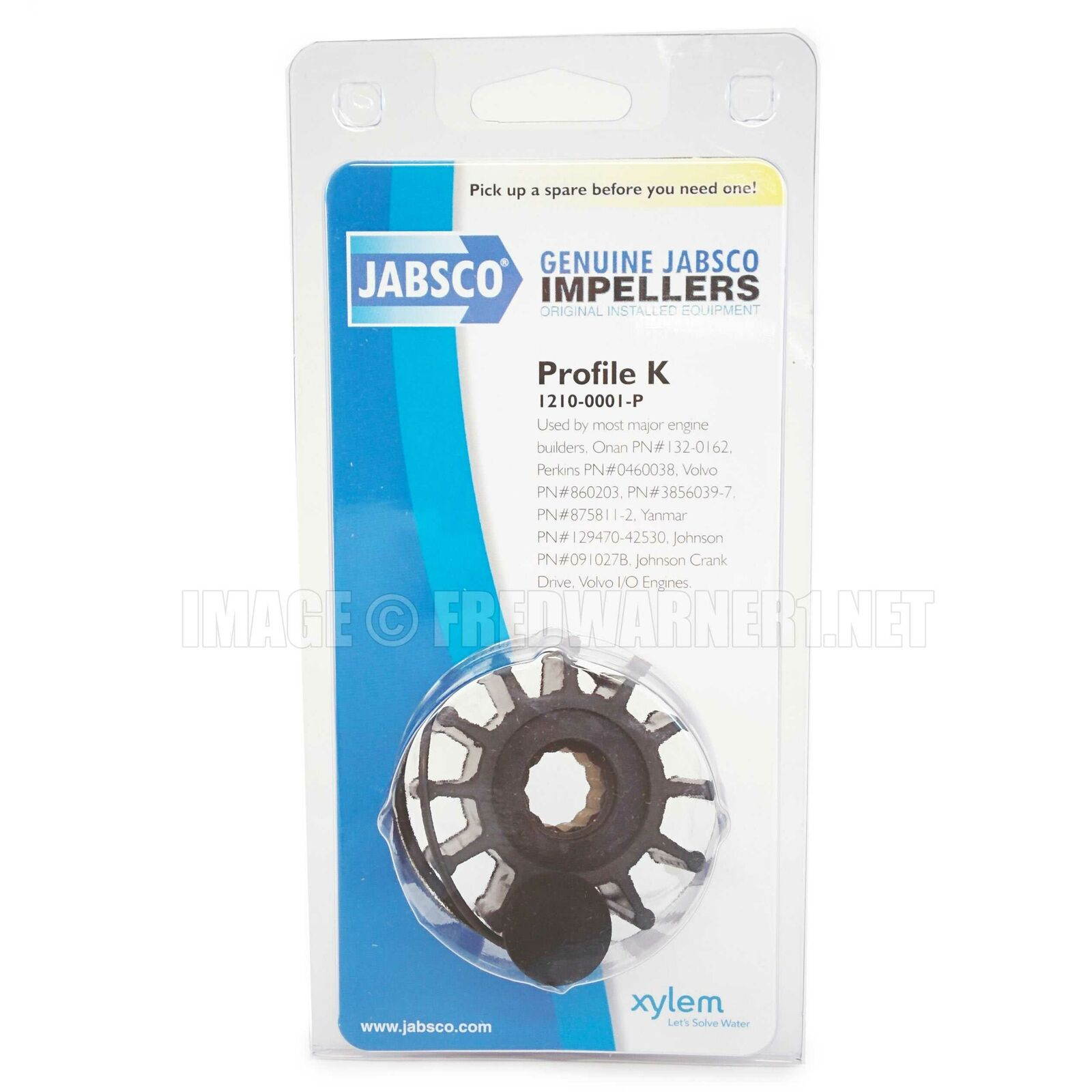 Jabsco Genuine 1210-0001-P Impeller /& Gasket Kit Perkins 0460038