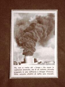 Donges-nel-1957-Incendio-scoppiato-nella-raffineria-Francia