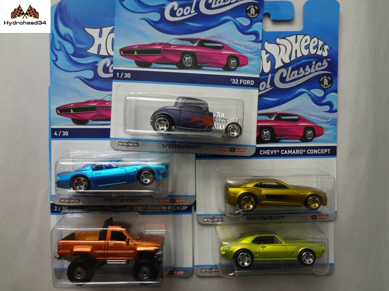 Hot Wheels 2013 Cool Classics Spectrafrost Y9423-956F Set of 5 cars READ
