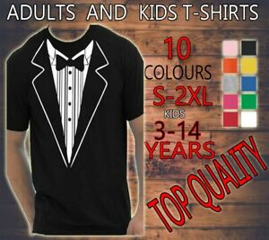 TUXEDO-FANCY-DRESS-FUNNY-MEN-WOMEN-KIDS-T-SHIRT-TEE-ADULTS-PARTY-STAG-HEN