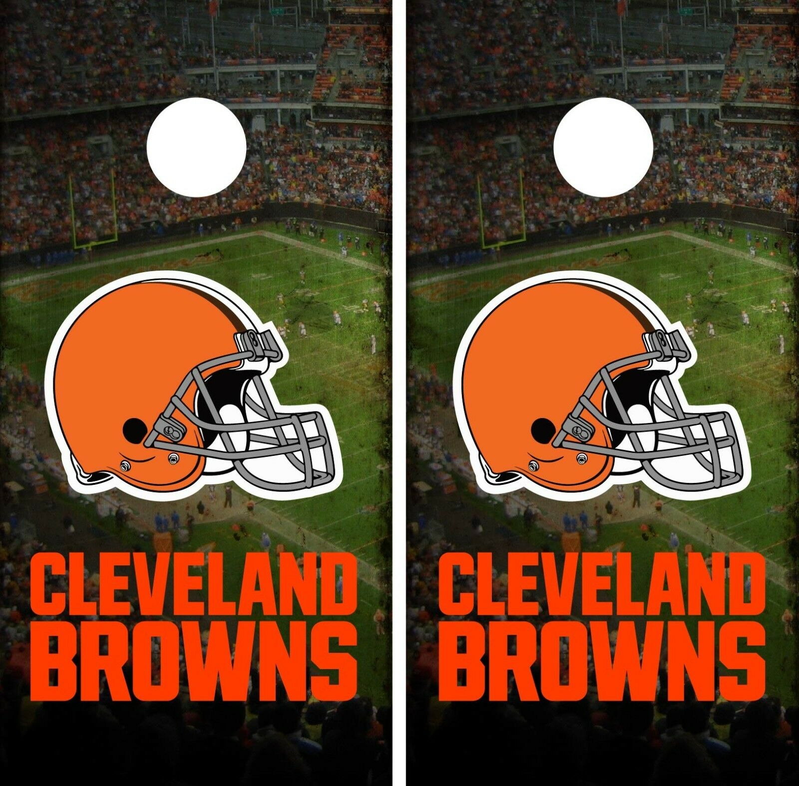 Cleveland Browns Stadium Cornhole Wrap  NFL Skin Game Board Set Vinyl Decal CO57  enjoy saving 30-50% off