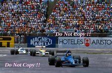 Michele Alboreto Tyrell 018 Messicano GRAND PRIX 1989 fotografia 2