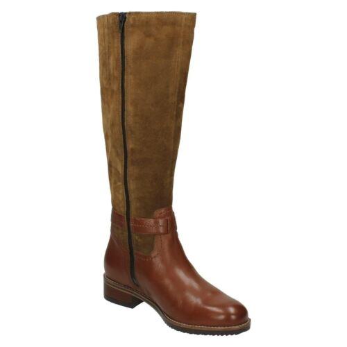 Clarks Nuevo de botas Tamro de oscuro 35 cuero 5 3 D marrón damas para Marina montar talla rFrCRwqg