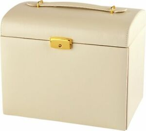 Cream-Faux-Leather-Large-Three-Drawer-Fully-Lined-Lockable-Jewellery-Box