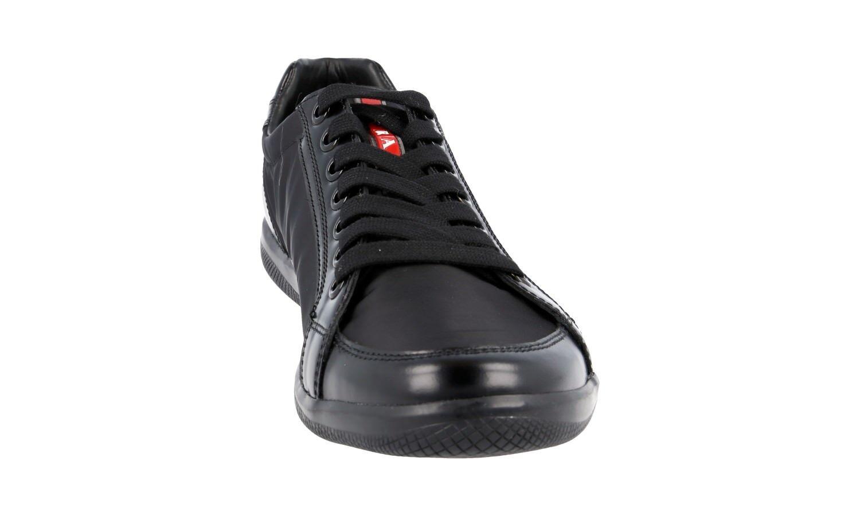 Lujo prada zapatos cortos zapatos prada 4e2439 negro nylon + cuero nuevo Nuevo 6 40 40,5 669d2d
