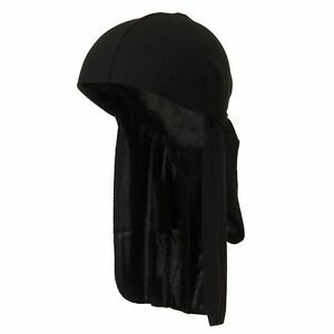 Men-039-s-Black-Durag-Bandanna-Sports-Du-Rag-Scarf-Head-Rap-Tie-Down-Band
