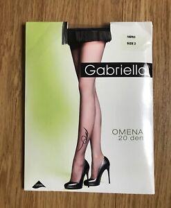 Gabriella Tummy Control Hosiery High Waist Slimming 20 Denier Sheer Tights