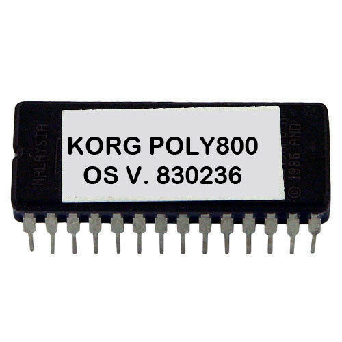 Korg Poly800 MK1 Version 830236 Latest OS Firmware Update Upgrade Eprom Poly 800