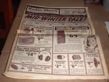 1961 Radio Shack Mid- Winter Sale! catalog 40 pages like a newspaper