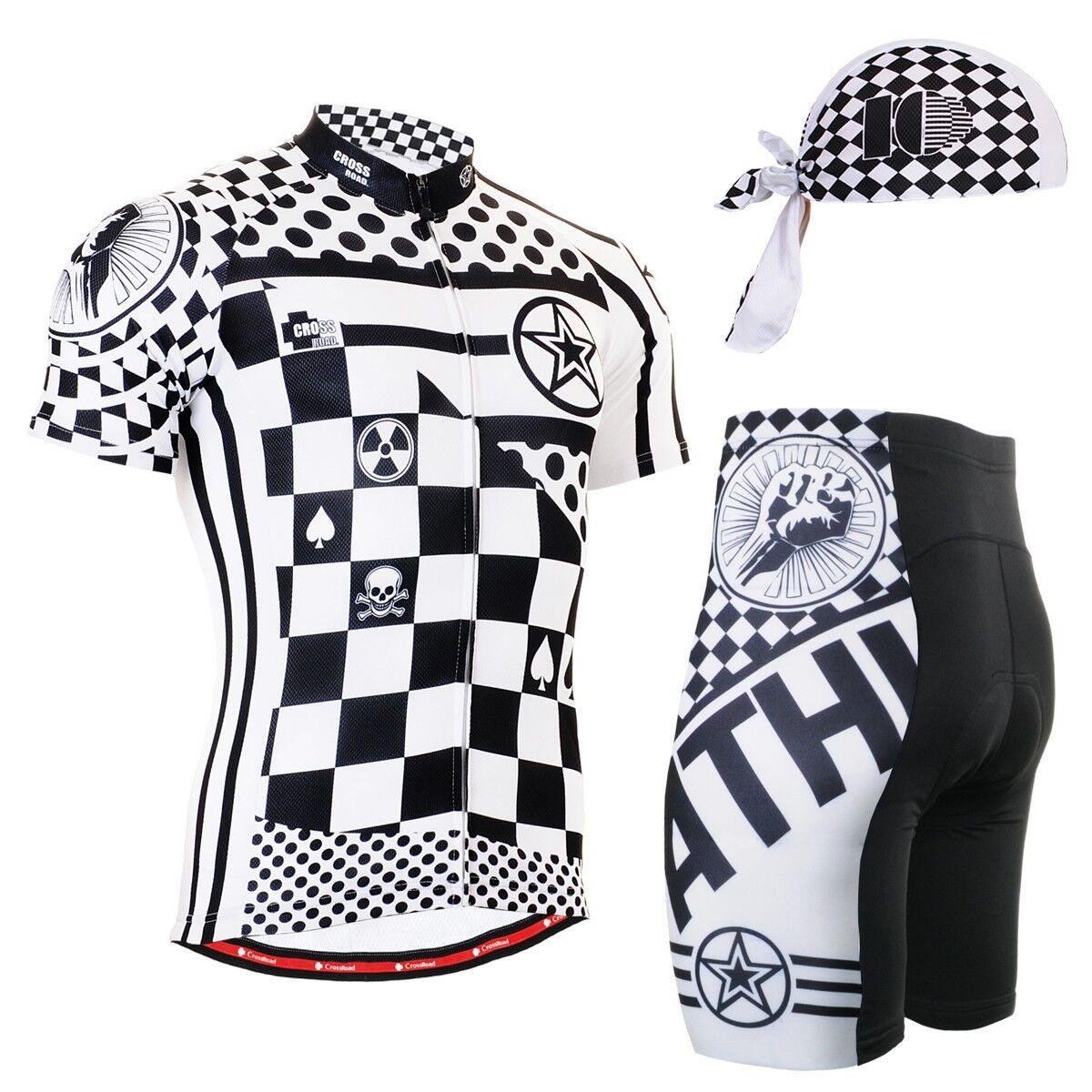 FIXGEAR CS-602-SET Cycling Jersey & Shorts Padded, Bicycle Wear, MTB Road Bike